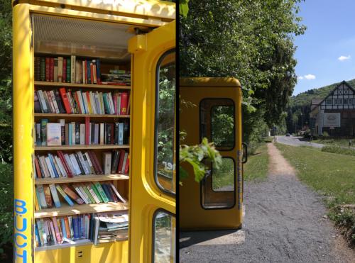 Start an offener Bücherzelle